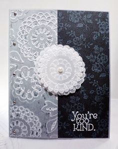 Stampin' Up! I Love Lace and Lovely Lace handmade card