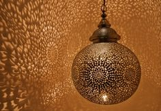 moroccan globe lamp created by yahya rouach of yahya design..