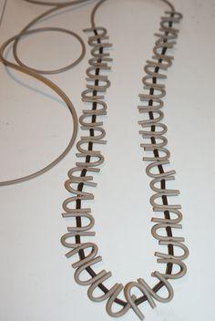 long #necklaces in pvc beige color #jewellery #bigiotteria #collane #bijoux isaboobijoux.blogspot.it