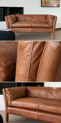 Modernes Sofa Designer Couch Furs Wohnzimmer Aus Leder Schwarz