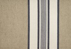 Wilcott Striped Cotton Fabric Oat cotton material with white and black stripe. Suitable for Drapes, Upholstery and Soft Furnishings.
