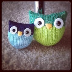 more cute knit owls!