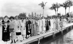Vintage Contest: The winner and fellow contestants in the bobbed-hair contest. Coral Gables, Florida. Circa 1925. Photo Credit: William A. Fishbaugh, SLAF