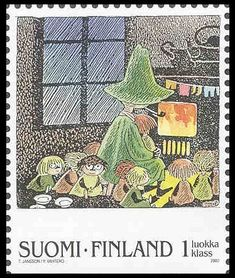 Snufkin and friends stamp Tove Jansson, Children's Book Illustration, Illustrations, Mail Art, Stamp Collecting, My Stamp, Postage Stamps, Polka Dot, Artwork
