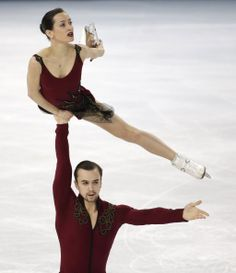 Ksenia Stolbova and Fedor Klimov of Russia compete in the pairs short program figure skating competition at the Iceberg Skating Palace durin...