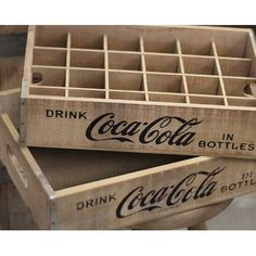 Crates & Pallet 24 Grid Divided Coca-Cola Crate Color: Natural