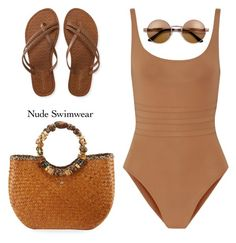 Including Every Shade of Nude by mcheffer on Polyvore featuring polyvore, мода, style, Eres, Cappelli Straworld, Aéropostale, fashion, clothing and nudeswimwear