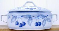 porcelán modré třešně