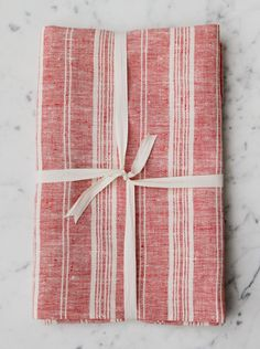 Le Fil Rouge Textiles European Linen Bath Sheet made in Canada from sustainable linen fabric. Linen Towels, Hand Towels, Tea Towels, Bath Sheets, Red And White Stripes, Modern Luxury, Stripes Design, Natural Linen, Linen Fabric