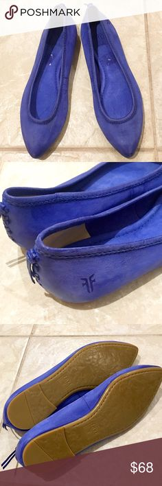 New Frye Regina Blue Leather Ballet Flats 6 New Authentic Frye Regina Blue Leather Ballet Flats size 6. Never worn! Excellent condition. Just some markings inside from the price tag. Retail for $148 plus tax! Frye Shoes Flats & Loafers