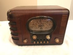 1938 Vintage 5-S-319 Zenith Radio 5S319 Wood Case Oval Racetrack Dial - Works! | eBay