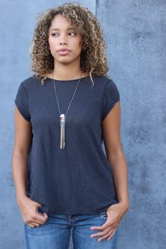 Praire Tee by Free People - Black // Antique Garden #fallesential #lookswelove