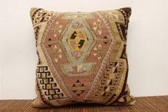 Tribal throw cushion cover rustic kilim pillow by ANATOLIANRUGS, $57.00