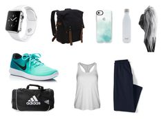 """""""Sport"""" by mdarbouze on Polyvore featuring mode, Apple, NIKE, Lands' End, Vagabond Traveler, Lorna Jane, Casetify, S'well et adidas"""