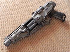 Impact zone Longarm (doomland)Z Cool Nerf Guns, Retro Toys, Hand Guns, Composition, Cool Stuff, Weapons, Modeling, Fun, Image