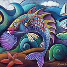 Painting of Fish and shells~  Does anyone know the artists name that made this?