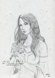 Pencil sketch for Autumn Witch by Nicole Cadet http://www.ellenmilliongraphics.com/sketchfest/sketchfestart.php?id=15826