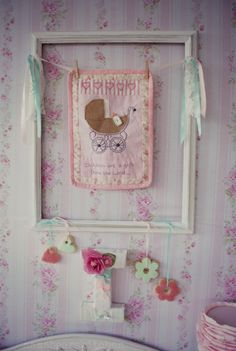 Shabby pink & mint Baby Shower. mamabearskitchen.blogspot.com