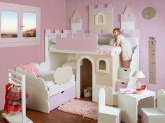 CARLOS PAYA galeria de fotos Baby Bedroom, Girls Bedroom, Bedroom Crafts, Bed With Slide, Princess Room, Kids Corner, Little Girl Rooms, Kid Beds, New Room