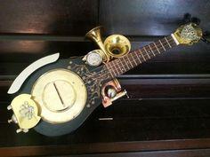 Brass can resonator Steampunk Ukulele thing