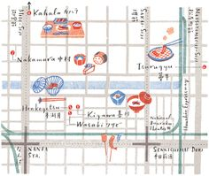Masako Kubo #maps #illustration #travel