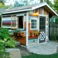 """""""Whether using it for working, reading, yoga, or artistic pursuits, a livable (or workable or playable) shed adds new functionality to your property to help you enjoy it more. 10x12 Shed Plans, Wood Shed Plans, Free Shed Plans, Small Shed Plans, Bench Plans, Cabin Plans, Livable Sheds, Diy Storage Shed Plans, Storage Sheds"""