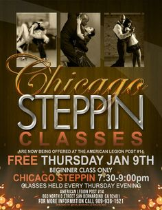 Chicago Steppin Classes this Thursday!! (FREE Beginner's Class!)