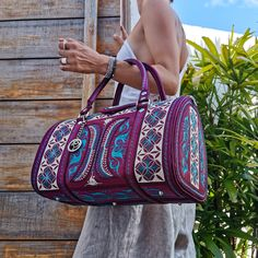 Looking for a beautiful day-to-day bag, gym bag or small carry-on bag? The mini-weekender bag will cover all your needs and turn heads, too! There is a snap button closure on the front and includes one zippered pocket inside. #bags #handbags #purse #travelbags #getawaybags #womenbags #fashionbags #handbag #handbagshop #handbagseller #handbagsforsale #luxuryhandbags #handbagshop #handbagslover #onlineshopping #weekenderbags #summerbags #bagscollections #ladiesbags #minibags #handmadebags
