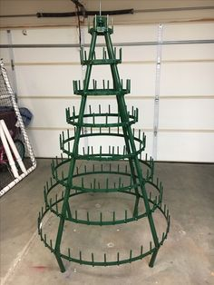 Final assembly and all painted. Wine Tree, Wine Bottle Trees, Wine Bottle Wall, Lighted Wine Bottles, New Years Eve Decorations, Christmas Decorations To Make, Christmas Projects, Christmas Items, Christmas Crafts