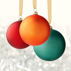 30-pc. Williamsburg® Ornament Collection - Dress your tree with the classic elegance of our 30 Solid Ornaments.