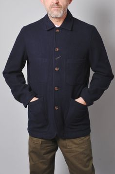 f93c3a1f039 Mens Homepage. Long Baker Jkt Navy. The Hambledon