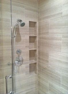 If you are looking for Luxurious Small Master Bathroom Design Ideas, You come to the right place. Below are the Luxurious Small Master Bathroom Design Ideas. This post about Luxurious Small Master Bat. Shower Niche, Shower Tiles, Shower Doors, Bathroom Inspiration, Bathroom Ideas, Bathroom Showers, Bathroom Designs, Bathroom Organization, Bathroom Storage