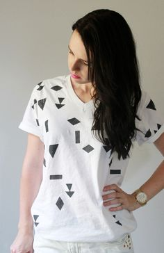 The Forge: diy: t-shirt make-over part II - printed geo shirt