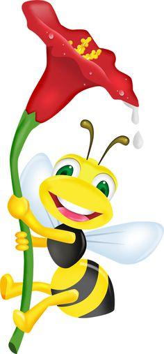 Bee creative, bee loving, bee kind, bee who God needs you to be. Cartoon Bee, Cute Cartoon, Bee Art, Cute Clipart, Bee Happy, Rock Art, Cute Drawings, Painted Rocks, Cute Pictures