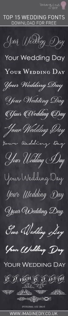 15 perfect wedding fonts