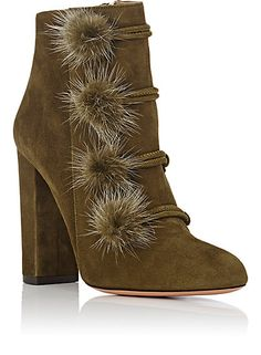 Aquazzura Ulyana Suede Ankle Boots - Boots - 504621098
