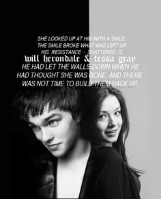 Will and Tessa from The Infernal Devices series by Cassandra Clare