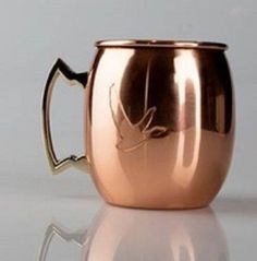 Grey Goose Moscow Mule Real Copper MUGS Set of Six (6) Stainless Steel Inside