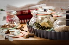 These mini deco jars are great for storing spices!