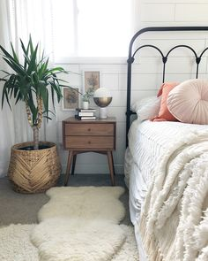 Well, here it is! Our bedroom refresh is complete and I'm so in love with this room now. Shiplap wall, vintage botanical prints (swipe for…