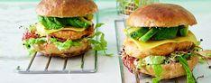 Papuburgeri valkoisista pavuista & chilimajoneesia