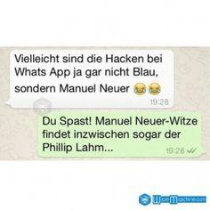 Nicht Manuel Neuer ist witzig - Philipp Lahm - Lustige WhatsApp Bilder und Chat Fails