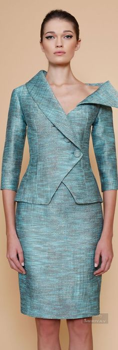 blue suit @roressclothes closet ideas women fashion outfit clothing style