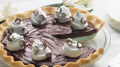 Creamy Mint-Chocolate Pie - I made this for Chinese class and everyone LOVED it. I substituted the regular pie crust for an Oreo one.