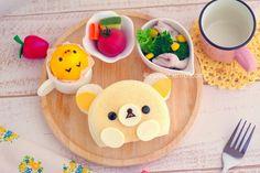 bento by cuteobento Japanese Food Art, Kawaii Bento, Plate Lunch, Bento Recipes, Bento Box, Lunch Box, Cute Food, Funny Food, Food Humor