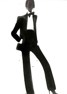 Mats Gustafson, Galerie Bartsch & Chariau » YSL Tuxedo for Vogue Italia, 2002
