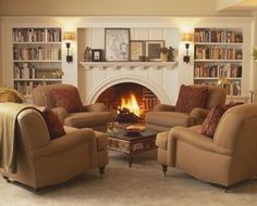 Cozy Living Room Warm - 39 Cozy Living Room Design Ideas with Fireplace to Keep You Warm This Winter Living Room Chairs, Room Design, Couches Living Room, Living Room Arrangements, Home, Hearth Room, Family Room Design, Livingroom Layout, Living Room Decor Cozy