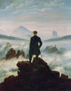 Caspar David Friedrich, El vagabundo sobre el mar de niebla (1818)