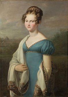 Portrait of Louise von Kanitz, born von der Schulenburg ~ Artist not verified c.1810s