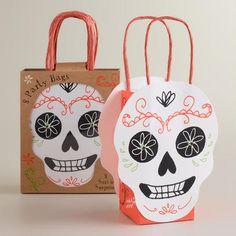 One of my favorite discoveries at WorldMarket.com: Meri Meri Eek! Day of the Dead Gift Bags, Set of 8
